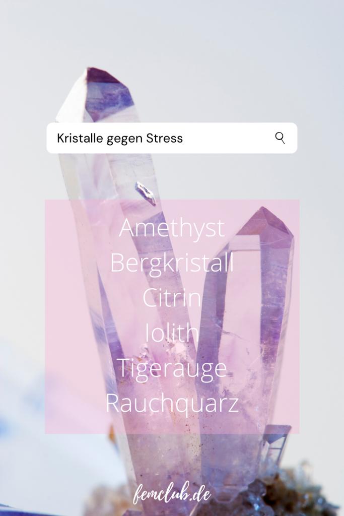 Heilsteine gegen Stress